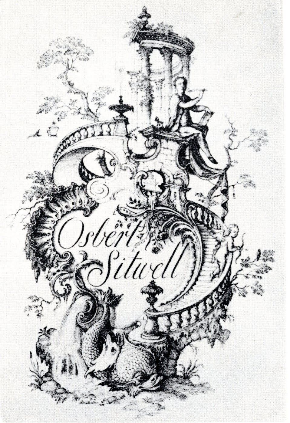 Bookplate Design for Osbert Sitwell by Rex Whistler in