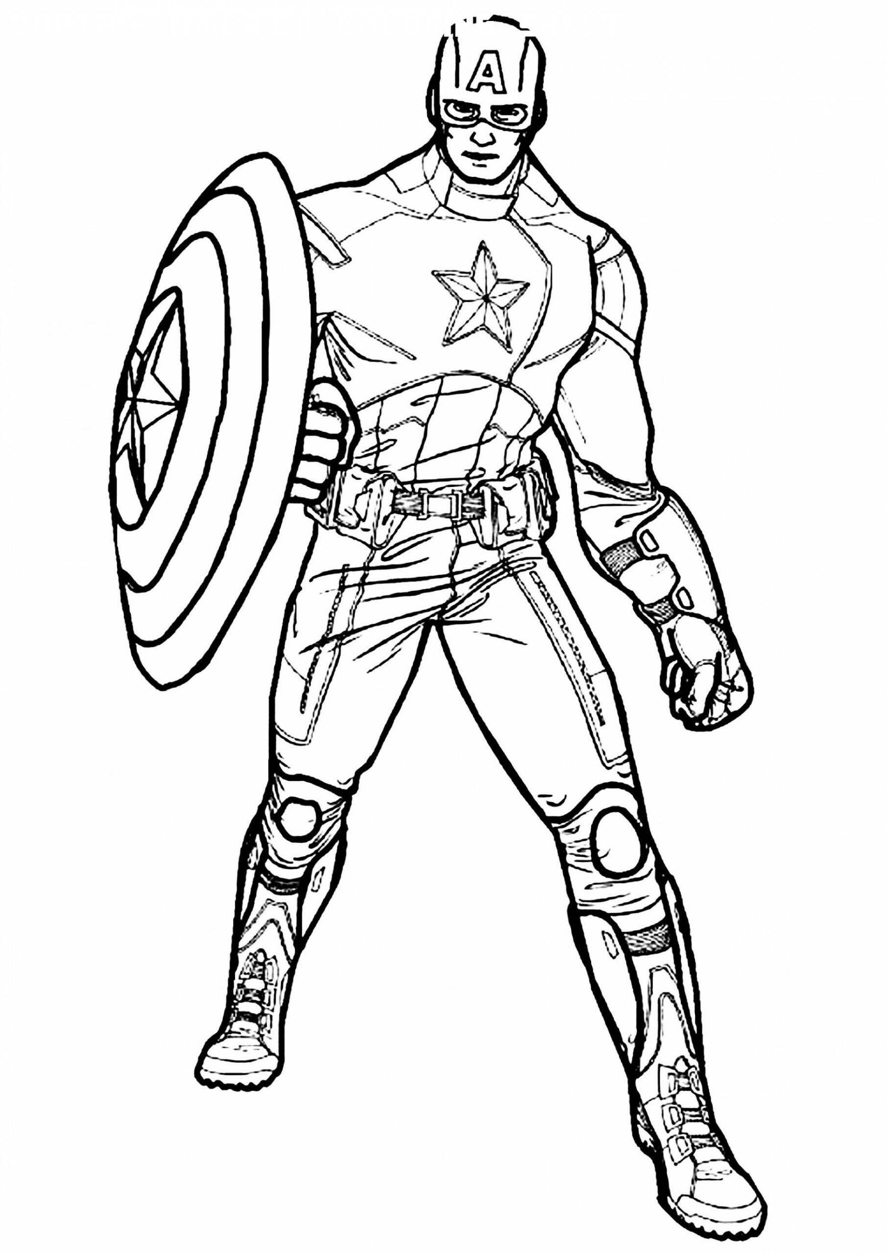 10 Captain America Coloring Sheet In