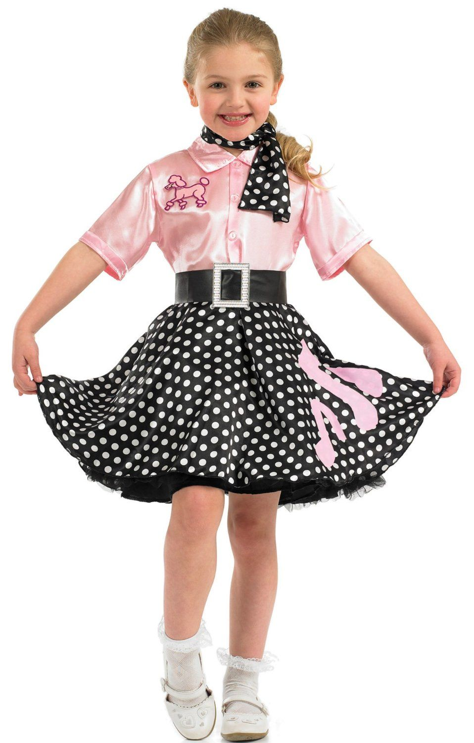 Fun Shack Child 50s Rock n Roll Costume AGE 4 6 YRS (S