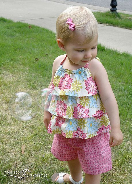 Oliver + S, Ruffle Halter Top {free downloadable pattern}