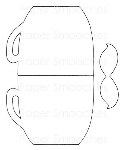 Coffee Cup Card Template-- mothers day cards from the students after
