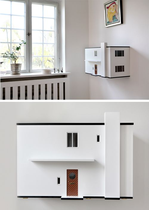 Doll house designed by Arne Jacobson via Studio ToutPetit