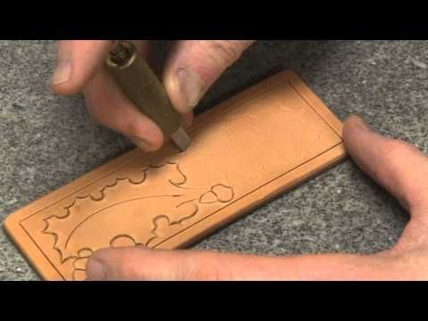 Carving Leather Part 2 With Leather Crafter and Saddle Maker Bruce Cheaney Leathercraft Tutorial - YouTube