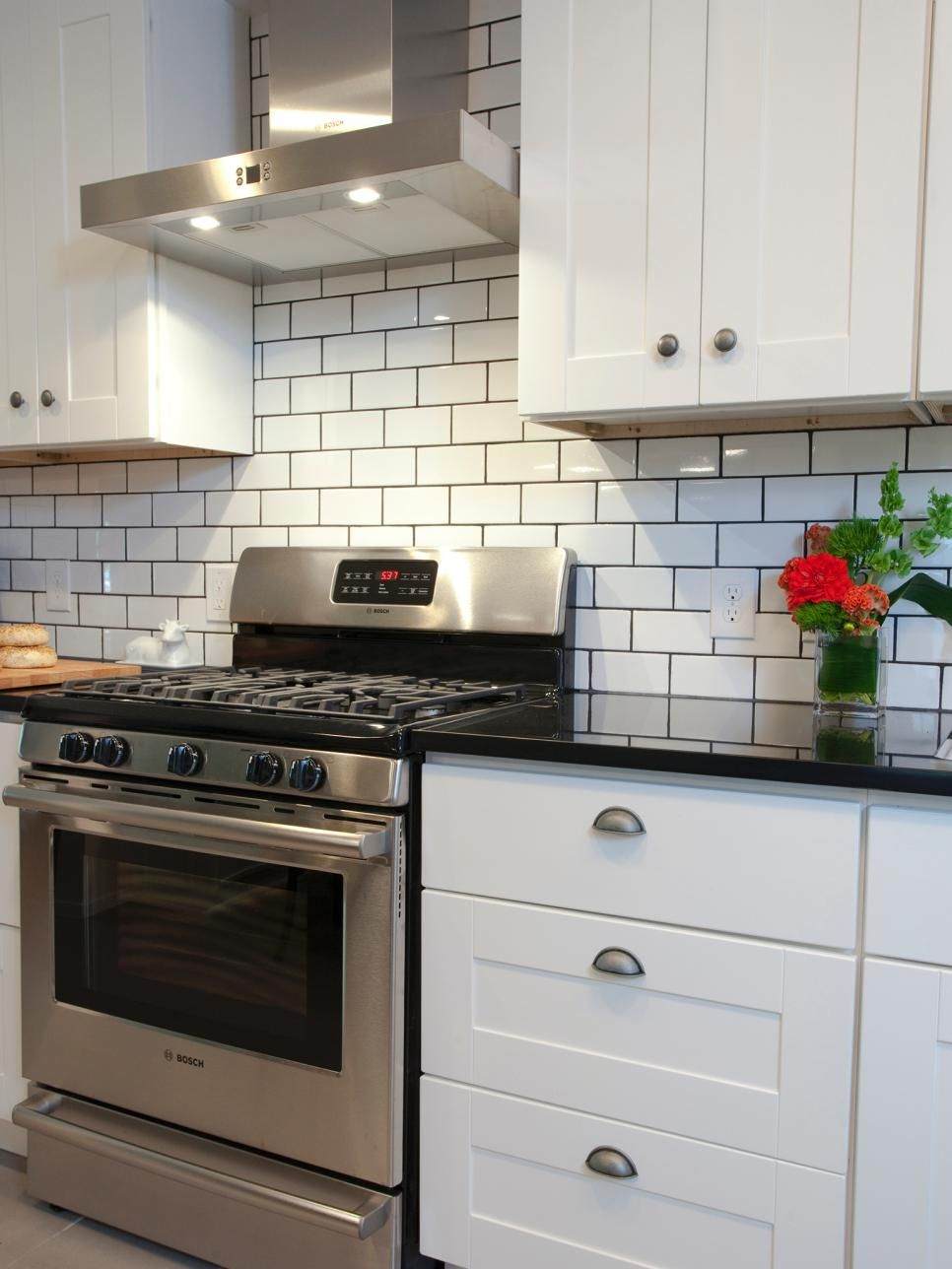 I Don't like this dark a grout between tiles. As seen on ...