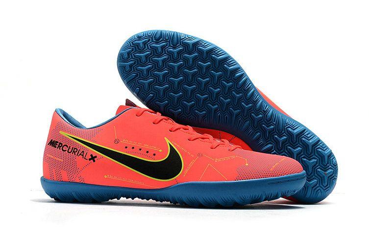 9a82e827988b Nike Mercurial Vapor XI Neymar TF 2018 World Cup Soccer Shoes Reddish  Orange Black Blue