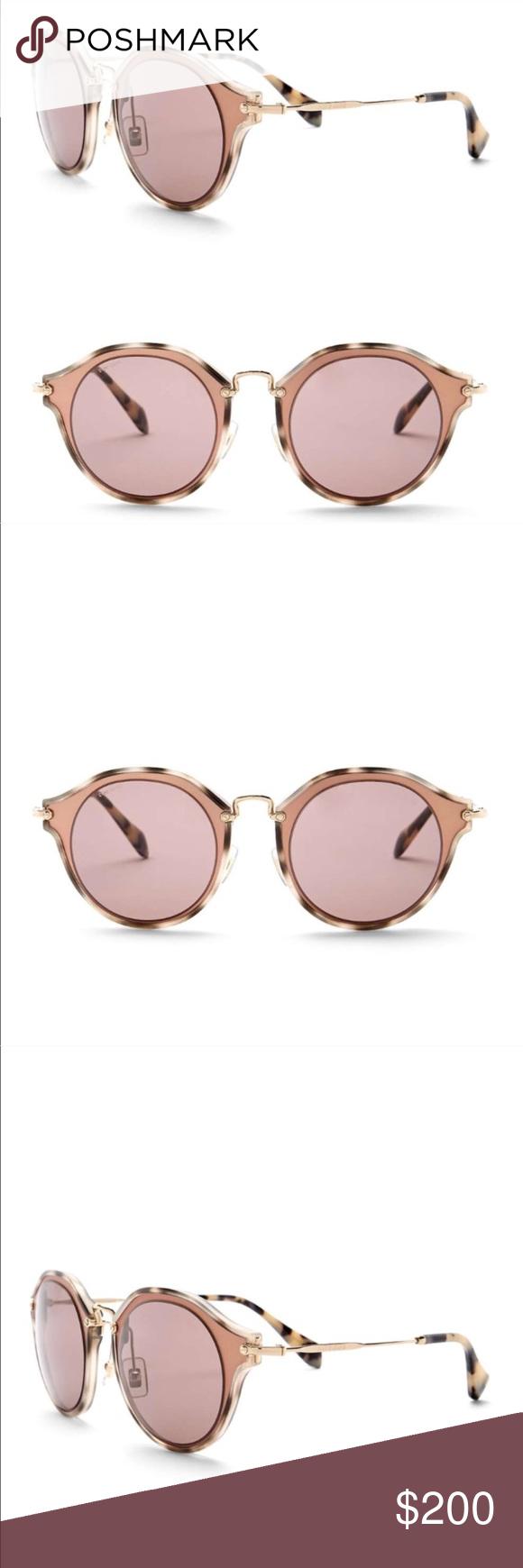 596d953f968b MIU MIU Matte Pink Round Sunglasses MU51SS Worn twice