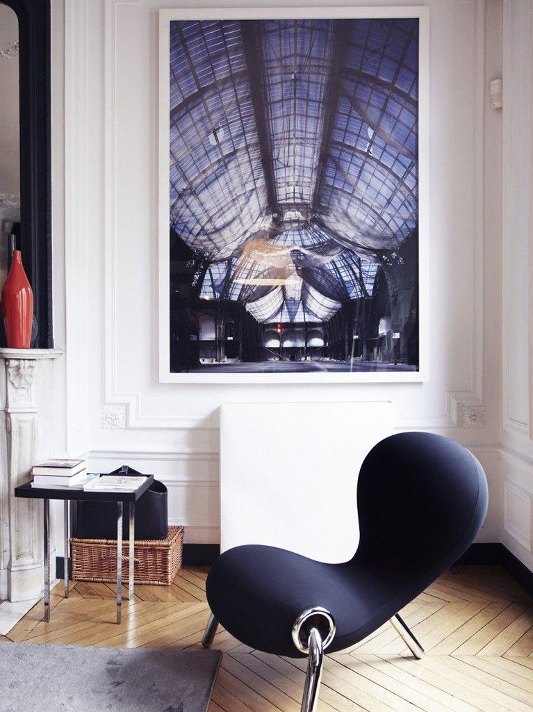 Ein Pariser Interieur so schick   Deco noir et blanc ...