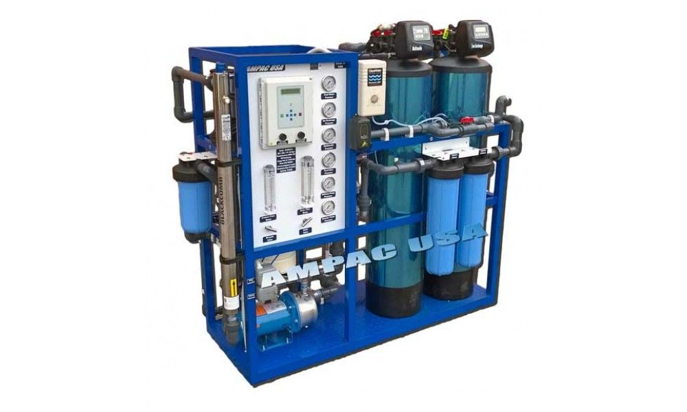 Commercial Turnkey Brackish Water Reverse Osmosis 2 200 Gpd 8 3m3 Day Ampac Usa Reverse Osmosis Water Purifier Water