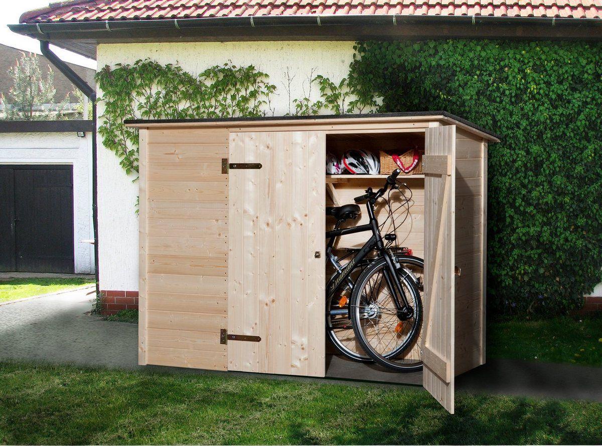 Fahrrad/Mülltonnenunterstand , B/T/H 205/84/151 cm