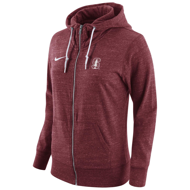 Women s Nike Cardinal Stanford Cardinal Tailgate Gym Vintage Full-Zip Hoodie 9141b731c