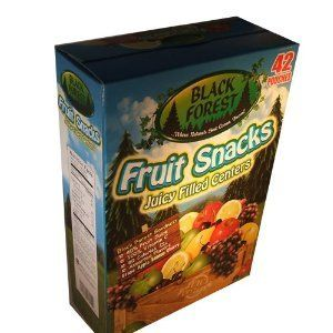 Black Forest Fruit Snacks Juicy Filled Centers 0.9 Ounce Pouches (Pack of 42)