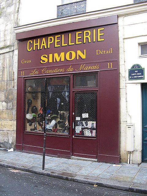 Chapellerie Simon, Le Marais, Paris