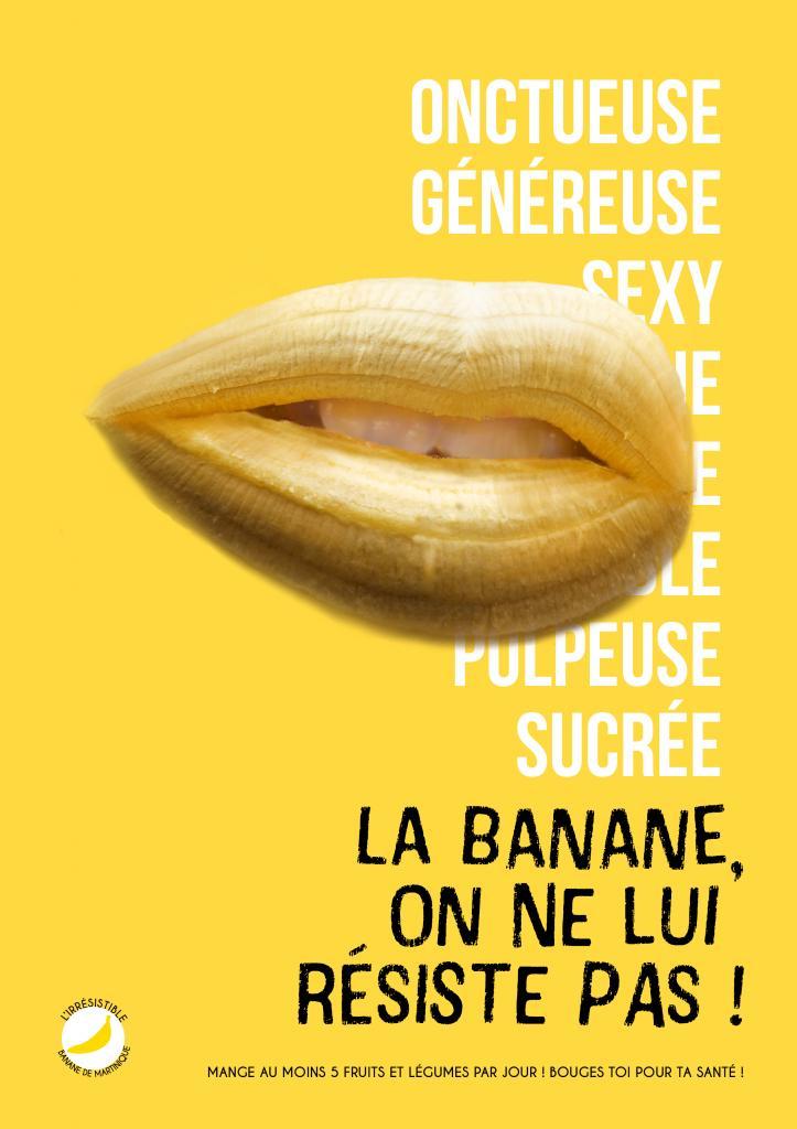 Affiche concept publicitaire banane en 2020 Concept