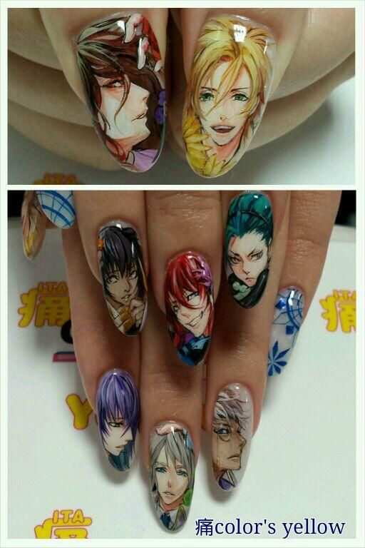 Colors on characters anime nails and crazy nail art art nails prinsesfo Gallery
