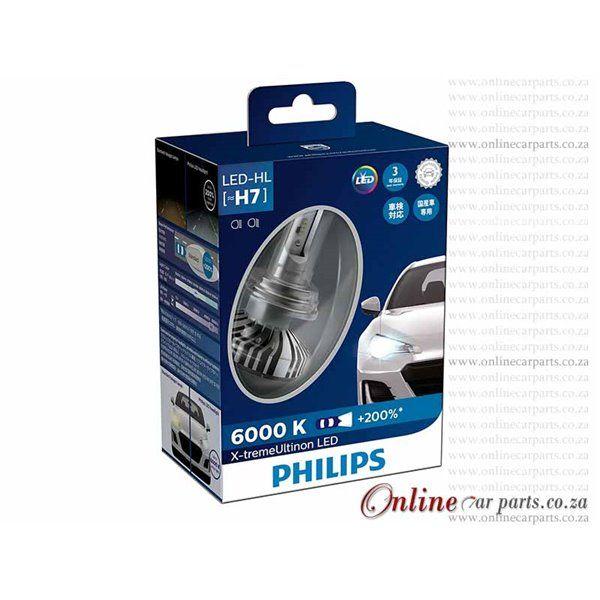 Philips X Treme Ultinon H7 Led Headlight Bulb Led Hl 6000k 200 Advanced Brighter Light Led Headlights Headlight Bulbs Philips