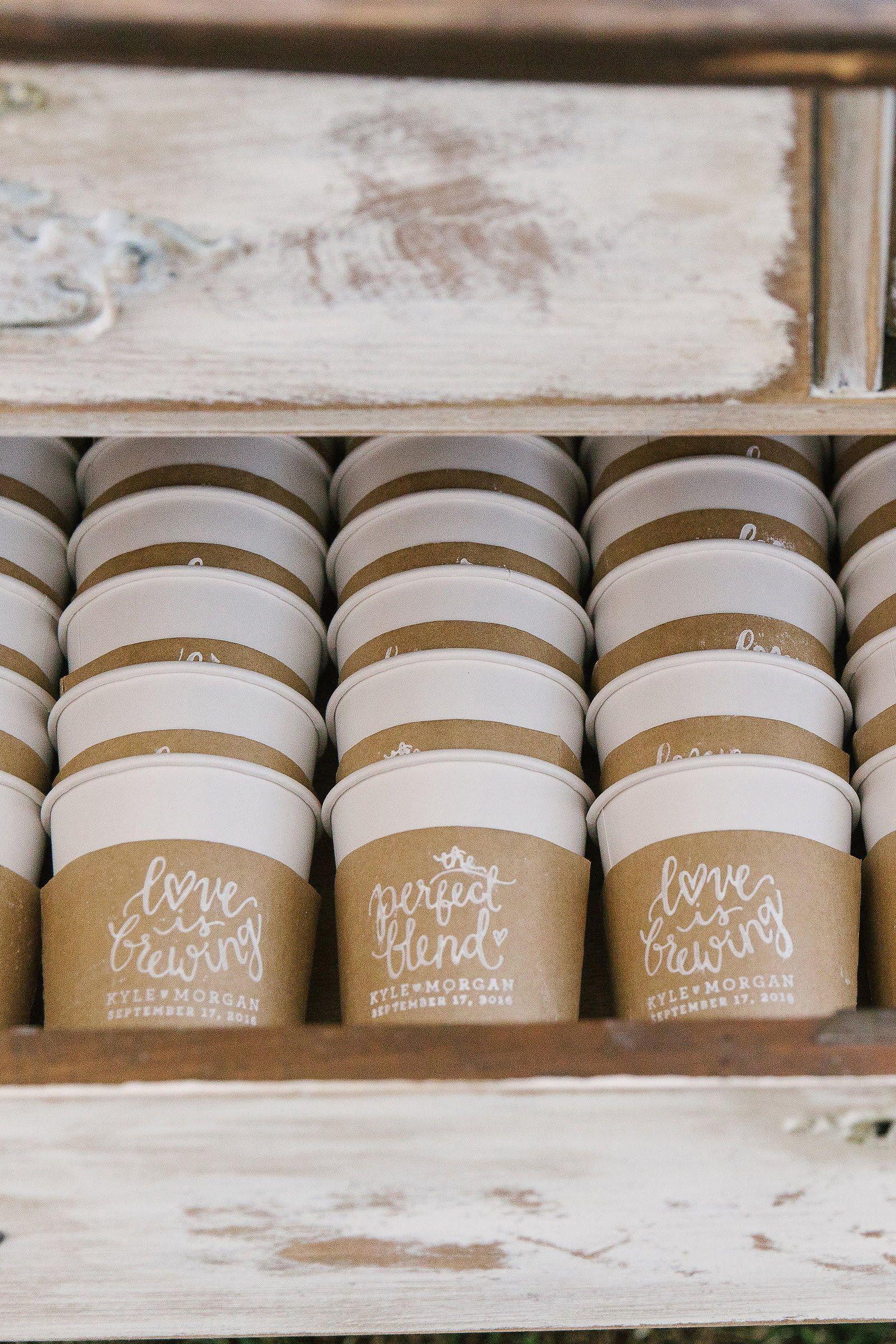 Love is Brewing Stamp, Coffee Wedding Favors, DIY
