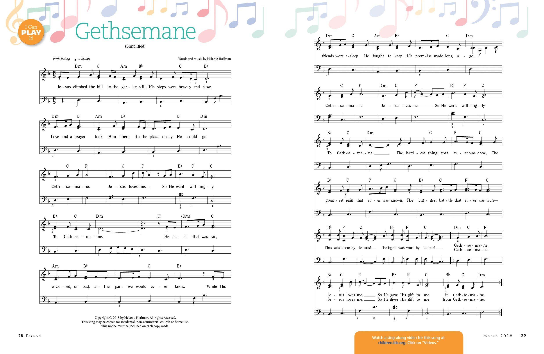 Music: Gethsemane | Church | Lds music, Music, Lds