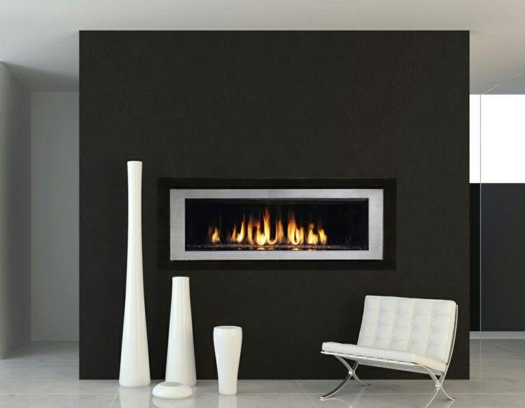 Diseño chimeneas modernas y 50 ideas para entrar en calor - chimeneas modernas
