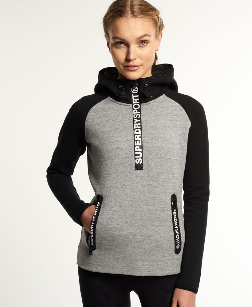 Superdry Sudadera con capucha Gym Tech - Mujer Superdry Sport  e8d4040d8be50