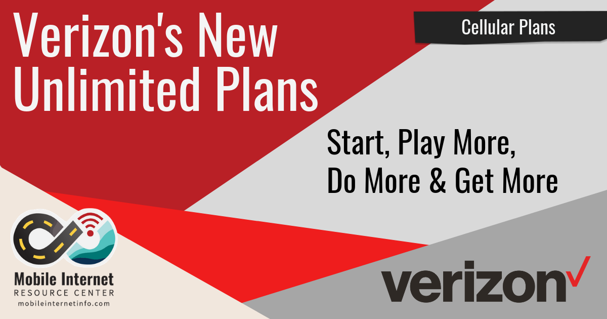 Verizon's New Unlimited Postpaid Plan Options Start, Do