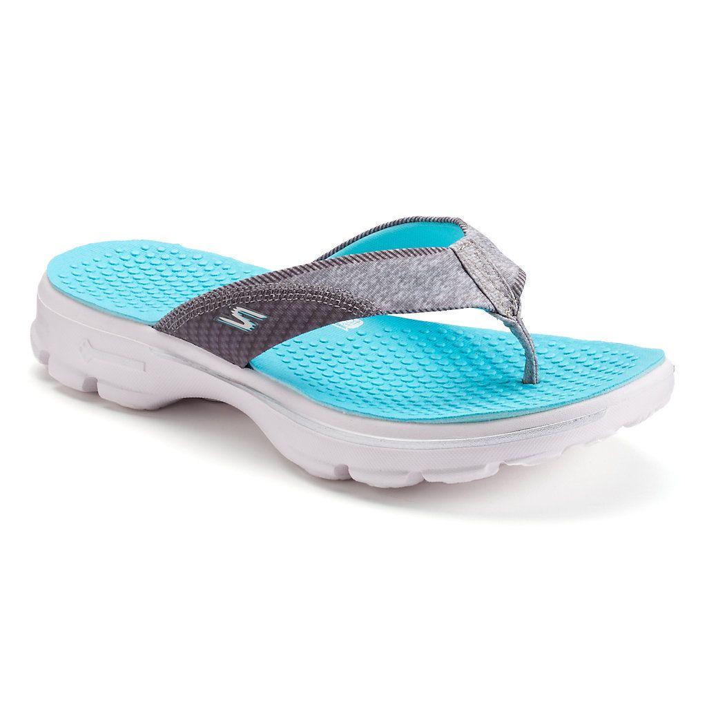 Skechers Gowalk Pizazz Women S Flip Flops Womens Flip Flops