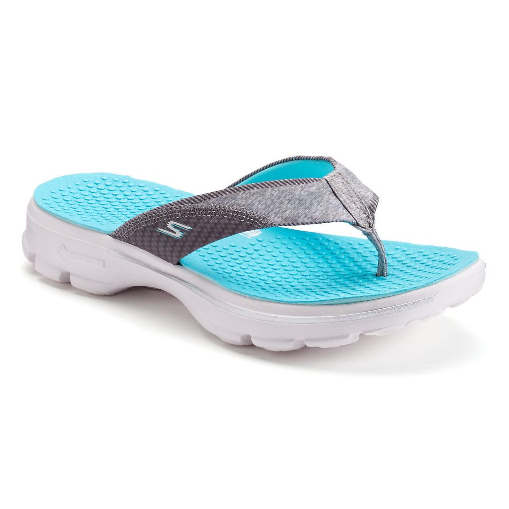 60a548a8125e Skechers GOwalk Pizazz Women s Flip-Flops