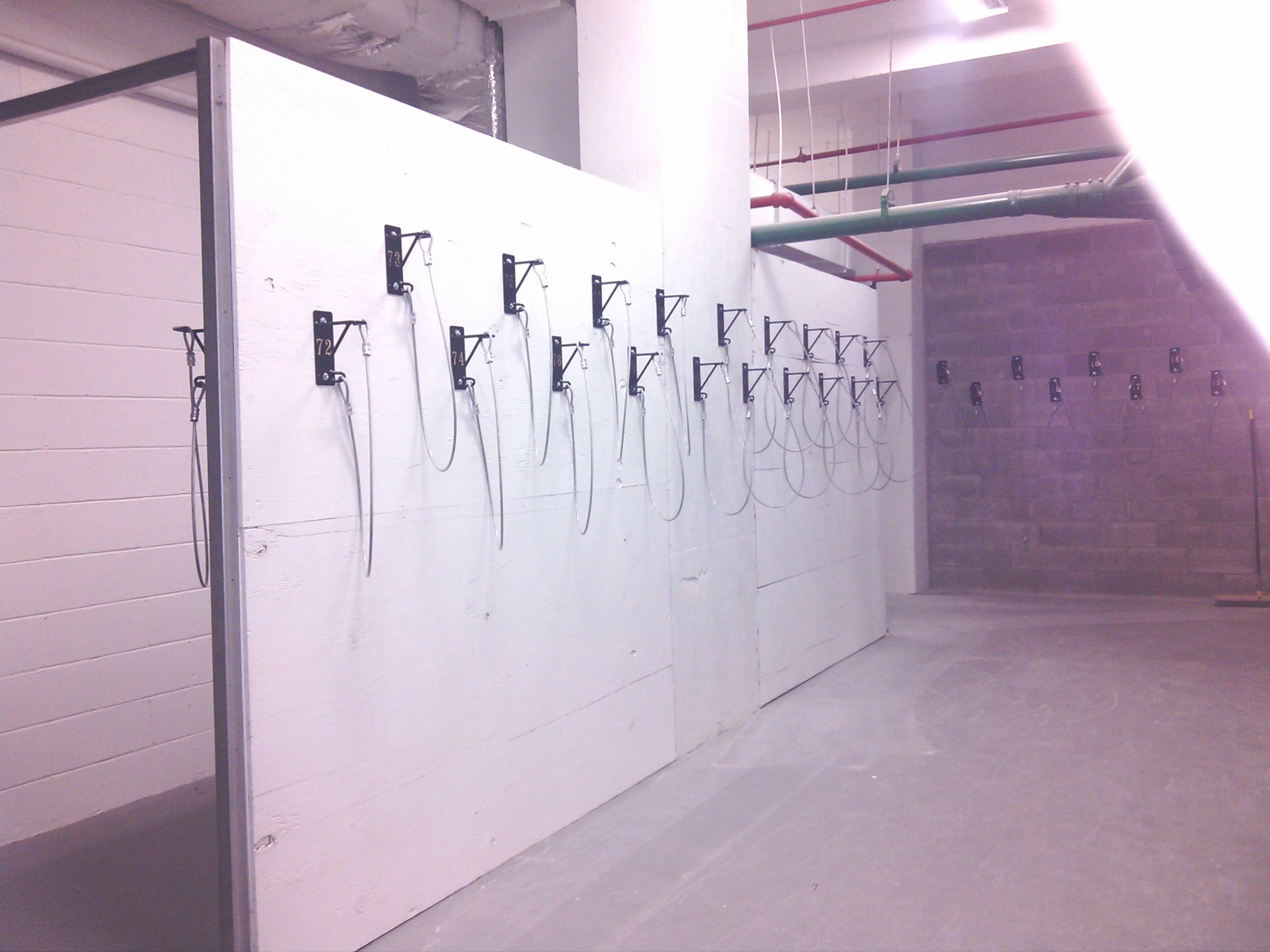 Gales Bike Room Storage Solutions NYC. Gales Created A Prefab Wall In A  Large NYC