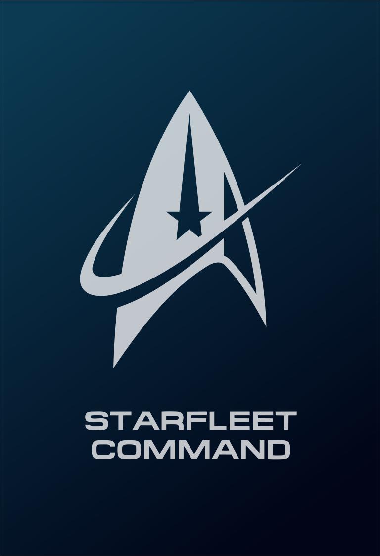 Star Trek Logo Flat Design Starfleet Command 2255 Discovery Star Trek Art Star Trek Wallpaper Star Trek Logo