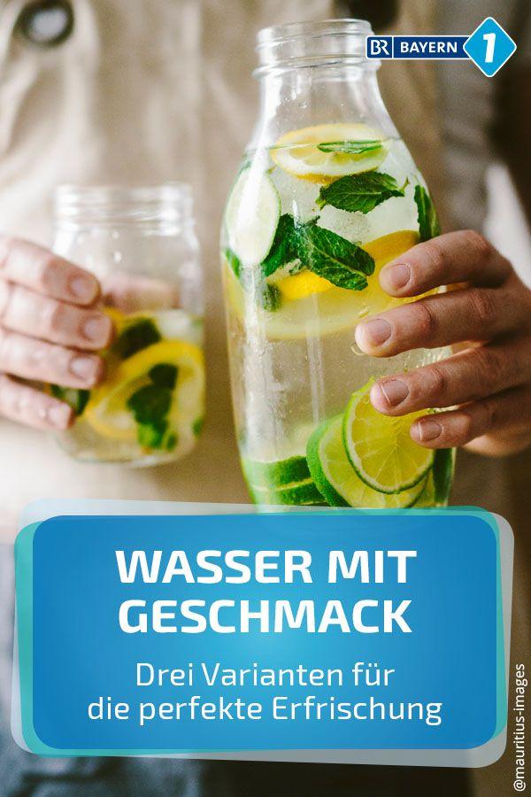 Drei Rezepte für Wasser mit erfrischendem Geschmack