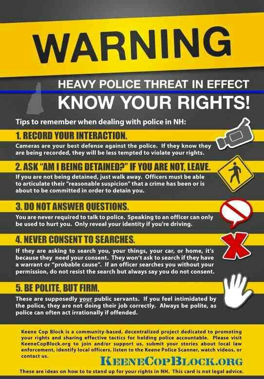 Don't let the law cheat you out if your rights ! | Tips & Hacks