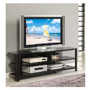 Innovex Oxford Series 70 Inch Flat Screen Tv Stand Black Glass