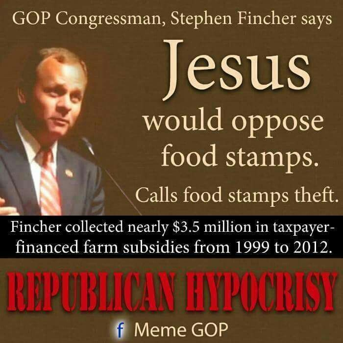Politicians Against Food Stamps