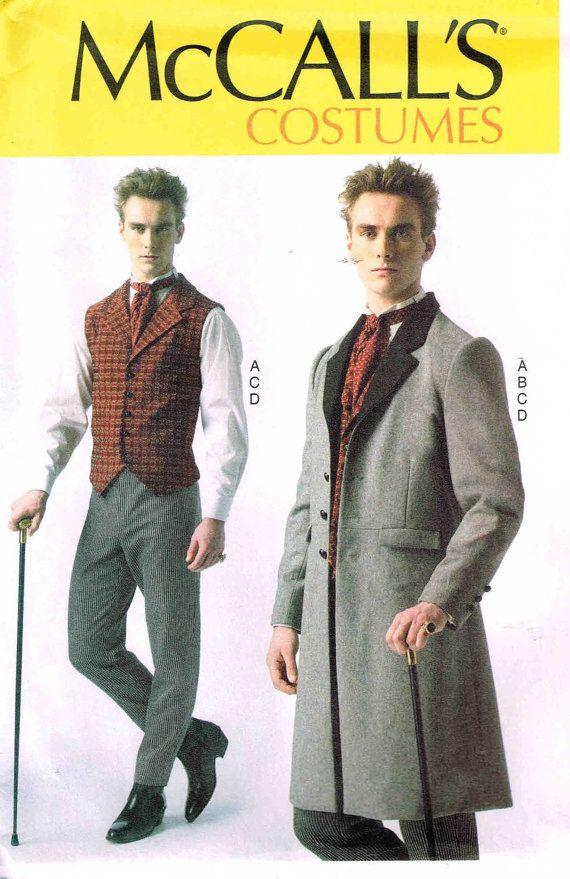 Men Steampunk Victorian Waistcoat Dickens Frock Coat Vest Pants ...