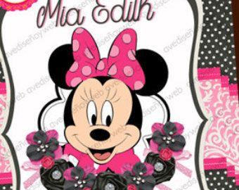 Items similar to Christmas Invitation, Minnie Mouse Christmas Invitation, Minnie Birthday Invitation, Minnie Christmas Birthday Invitation, Minnie Mouse on Etsy