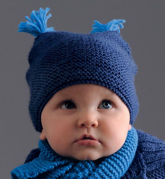 09dbcf150de5 Modèle bonnet à glands layette - Modèles Layette - Phildar   Tricot ...