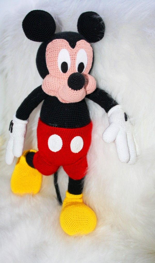 Maus Mickey   Amigurumi   Pinterest   Amigurumi, Mäuse und Häkeln
