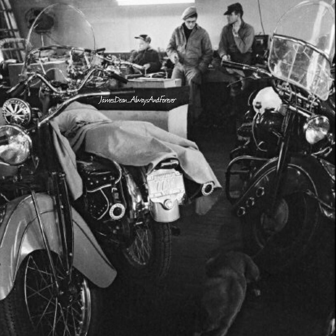 After walking on Main Street, James Dean took Dennis Stock and Mark to the Carter's motorcycle dealership ...