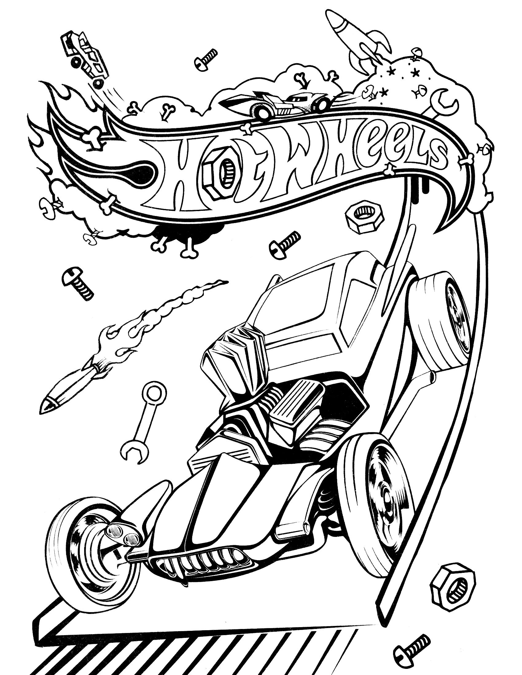 Colouring in pages games - Hot Wheels Coloring Pages Games 4