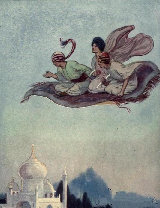 Soper, George (b,1870)- Flying Carpet- 'Arabian Nights', 1900 -2b