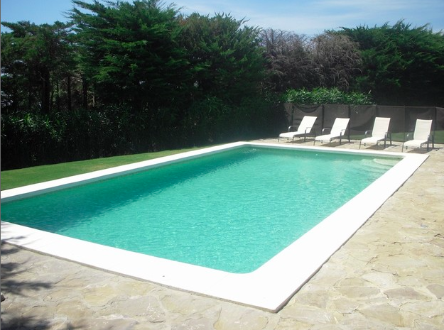 Refreshing , crystal blue, 10 x 5 swimming pool of salt