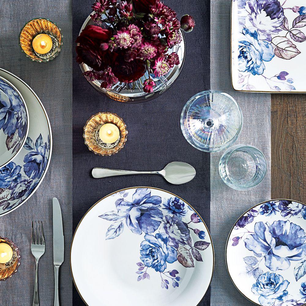 Blue Dinner Set Tesco Stoneware Dinner Sets Dinner Sets Dinner Plate Sets