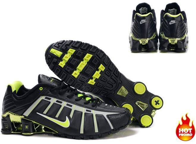 online store fe930 1d85a asneakers4u.com Mens Nike Shox NZ 3 OLeven Black Green2. Nike Shox NZ Mens  Running Shoes designed with sporting excellence in mind ...