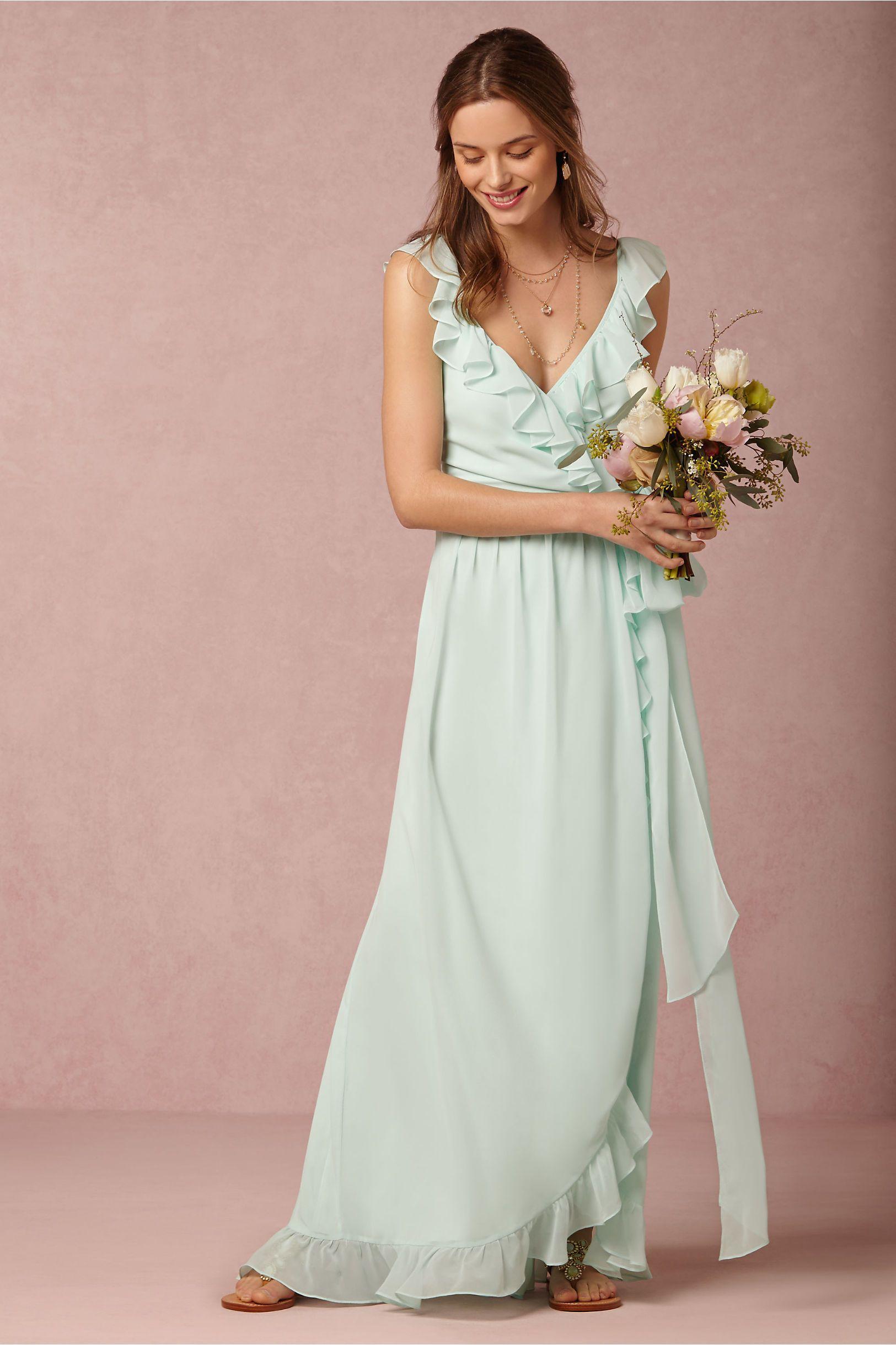 Polly dress in bridal party u guests bridesmaids at bhldn wedding