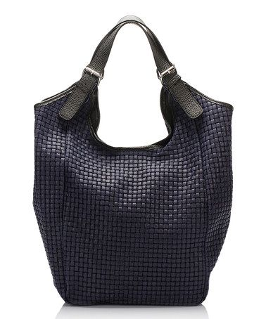Another great find on #zulily! Blue Lattice Leather Tote #zulilyfinds
