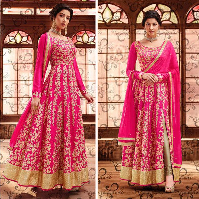 Wedding Gown For Parents: Bollywood Anarkali Indian Pakistani Wedding Dress For