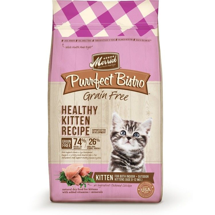 Merrick Purrfect Bistro GrainFree Healthy Kitten Recipe