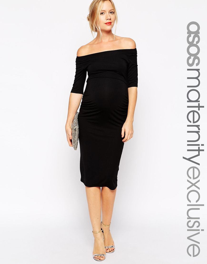 Maternity Bardot Dress With Half Sleeve | Something new, Sleeve ...