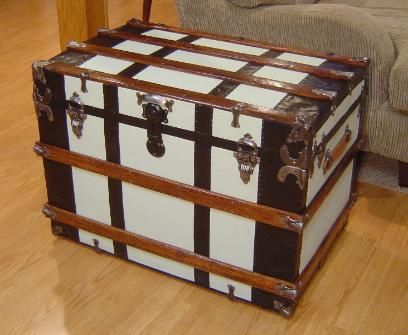 Antique Trunk Restoration And Refinishing By Shenandoah Restoration Before And After Pictures Hardwar Antique Trunk Restoration Antique Trunk Trunk Furniture