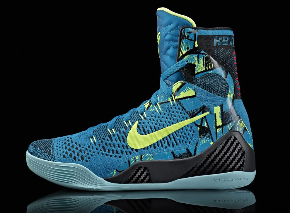 The Nike Kobe 9 Elite Perspective colorway is guided by the verseatile blue  and blue-green sculpting, ceramics and print work of Pablo Picasso.