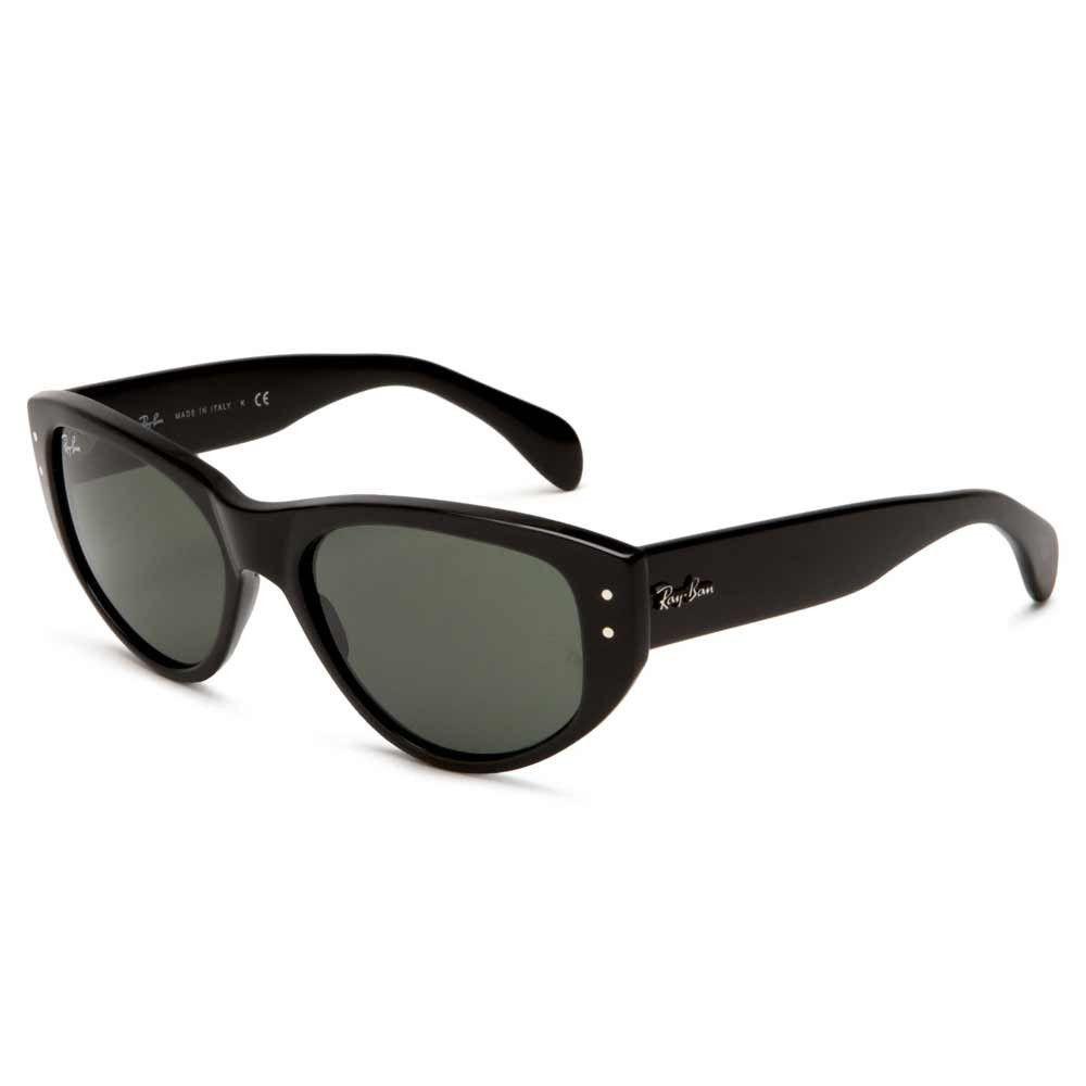 Ray-Ban RB 4152 601 Women\'s Vagabond Black Plastic Frame Cat Eye ...
